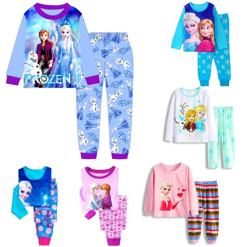 2020 комплект для девочек с принтом Эльзы, одежда с изображением Анны из мультфильма «Холодное сердце; Одежда для маленьких девочек; Одежда для девочек в стиле МИККИ набор