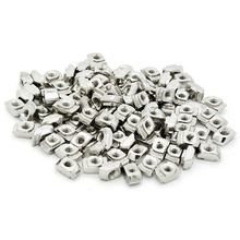 100pcs M5x10x6 For 20/30 Series Slot T-nut Sliding T Hammer Drop In Nut