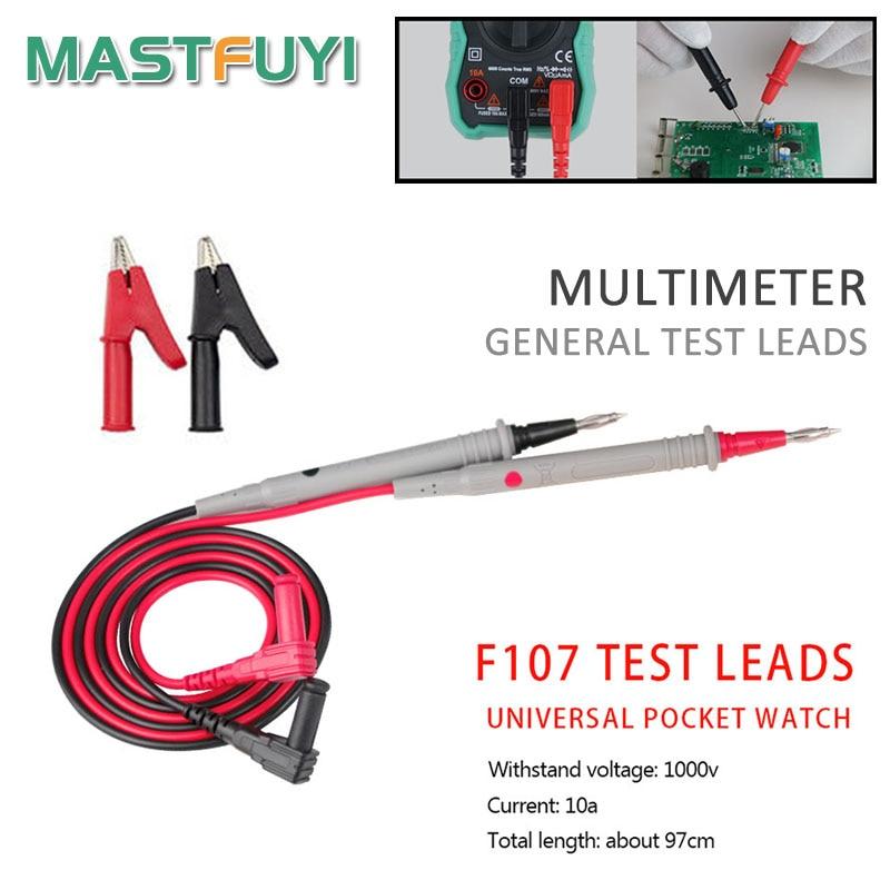 Mastfuyi 1000 В 10A Высококачественный Универсальный цифровой мультиметр многометровый тест-зонд провод ручка кабель 4 типа