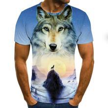 Leisure In The Summer Orangutan Pattern 3D T-shirt Short Sleeve Men's Summer Fashion Top Animal Print 3D T-shirt Men's Clothing