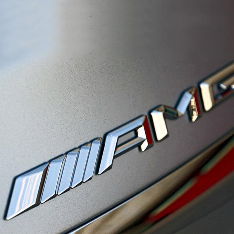 새로운 메르세데스 C 클래스 E 클래스 S 클래스 C63 수정에 적용 가능한 3D 금속 자동차 스티커 AMG 쇼 자동차 로고 배지 데칼
