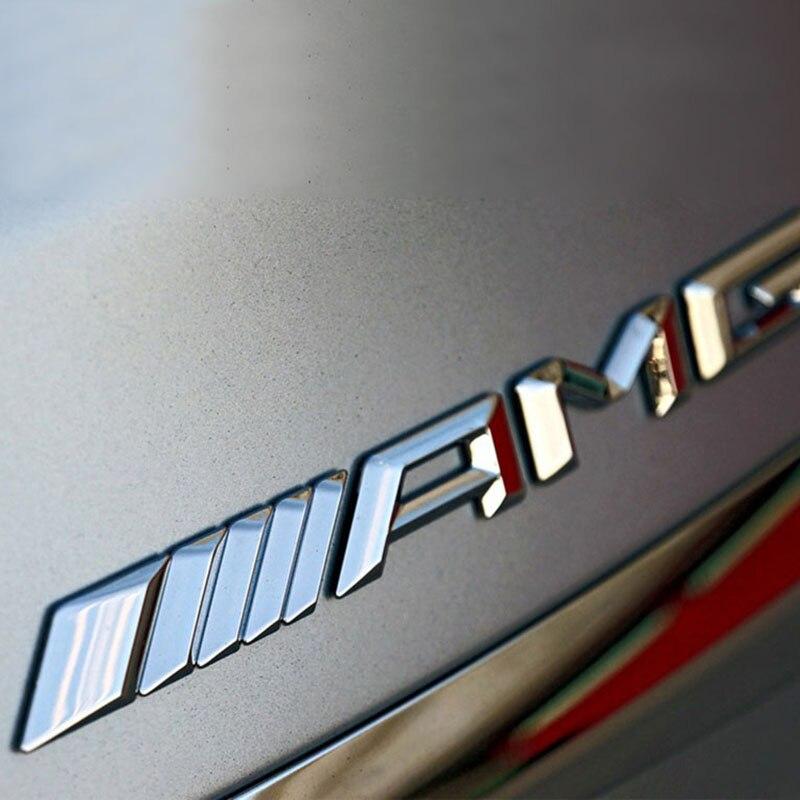 3D מתכת רכב מדבקת AMG להראות מכונית לוגו תג מדבקות ישים עבור חדש מרצדס C-class E-class s-class C63 שינוי