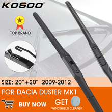 """KOSOOรถสำหรับDacia Duster MK1 2009   2012 LHD/RHDหน้ากระจกหน้าต่างใบปัดน้ำฝนกระจก20 """"+ 20"""""""