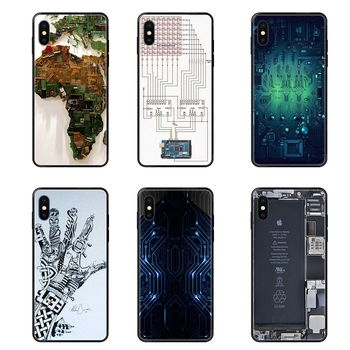 Newest Black Soft TPU Screen Protector Computer Battery Phone Circuit Board For Galaxy A5 A6 A7 A8 A10 A10S A20 A20S A20E A21S image