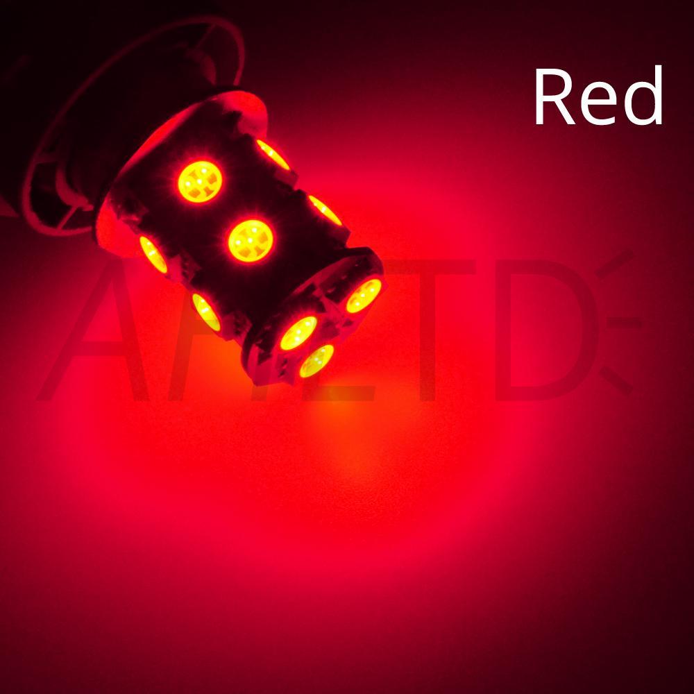 hviero 1156 BA15S P21W 1157 BAY15D Red Strobe Lamp 5050 13SMD Super Bright LED Bulbs 12V Car Brake Turn Signal Tail Flashing Light DC 12V 9