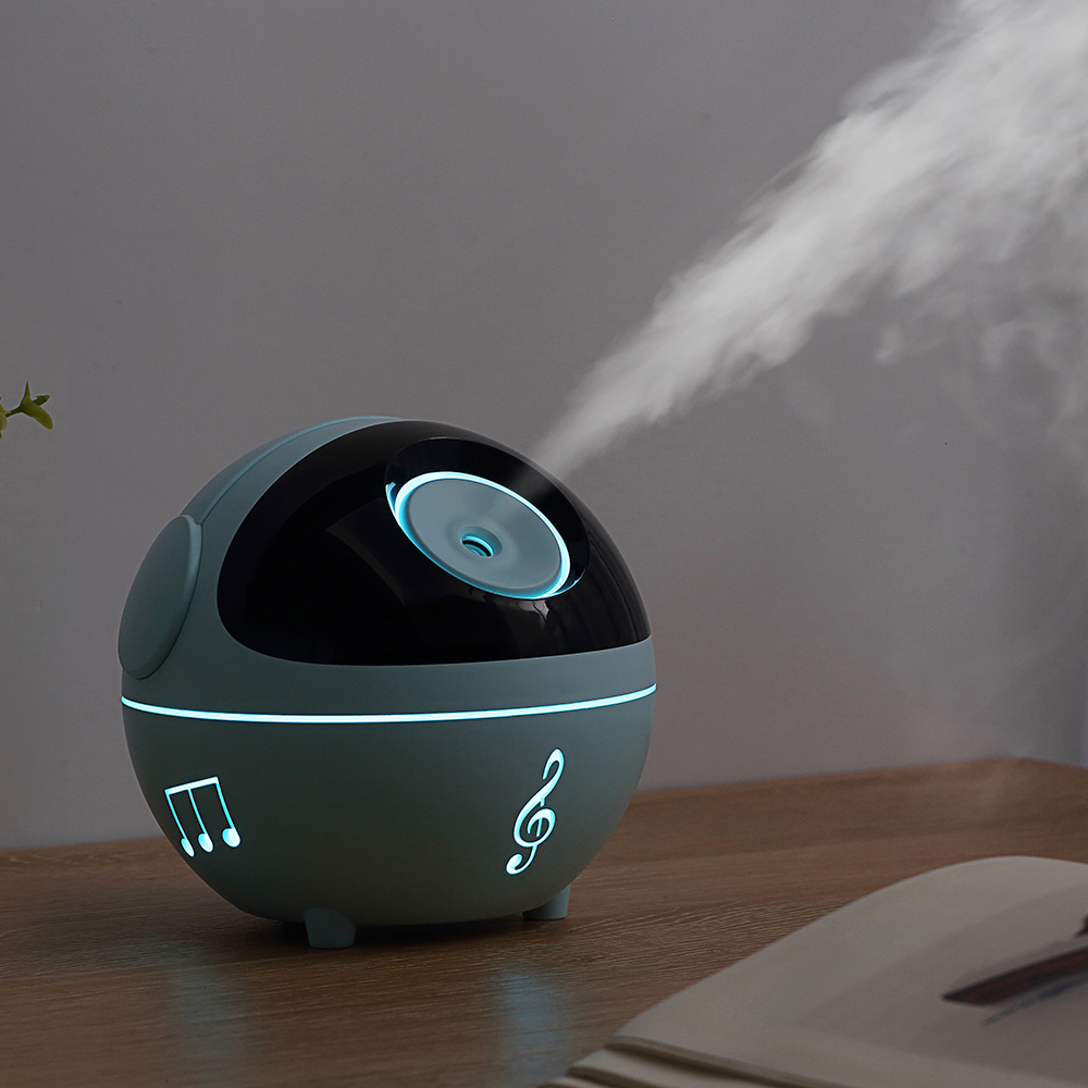 2019 Music Humidifier 350ML Tabletop Humidifier  Aroma Essential Oil Diffuser 1200mAh Built_in Battery with LED Light for Home