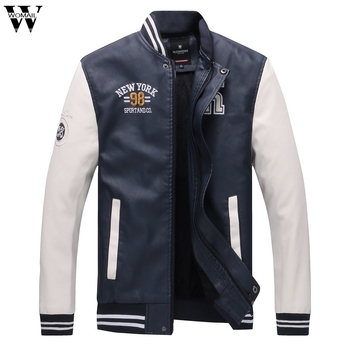 High Quality Men Jacket Autumn Winter Fashion Casual High-quality Stand Collar Leather Jackets Male Coat Thin Men Coat 2