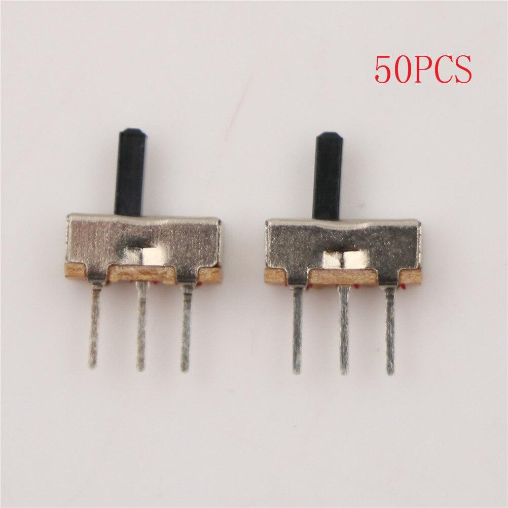 Comebuywide MonkeyClimb 20pcs SS12D00G3 2 Position SPDT 1P2T 3 Pin PCB Panel Mini Vertical Slide Switch
