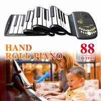 لوحة المفاتيح الإلكترونية البيانو جهاز إلكتروني 88 مفتاح آلات موسيقية مع المتكلم بصوت عال السيليكون المدرسة المبتدئين نشمر البيانو