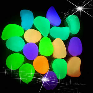 Glow Stones Yard Decor Patio-Lawn Garden Pebbles Glow-In-The-Dark Rocks 10PCS for Walkways