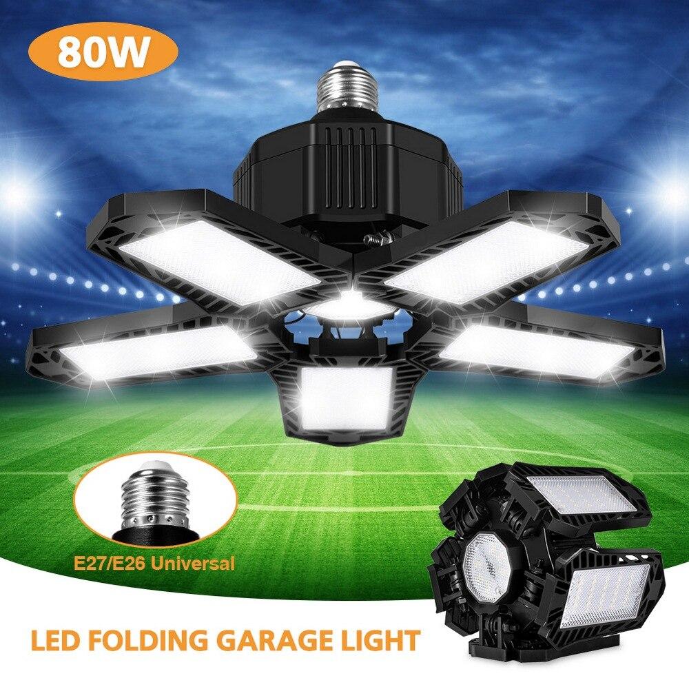 led trabalho luz AC85-265V dobrável garagem lâmpada