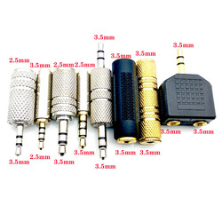 3pcs Jack 3.5 mm to 2.5 mm Audio Adapter 2.5mm Male to 3.5mm Female Plug Connector for Aux Speaker Cable Headphone Jack 3.5