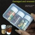 Organizador recipiente para comprimidos de viagem caixa de pílula selada à prova de umidade à prova dwaterproof água caixa de medicina caso pílula divisor portátil