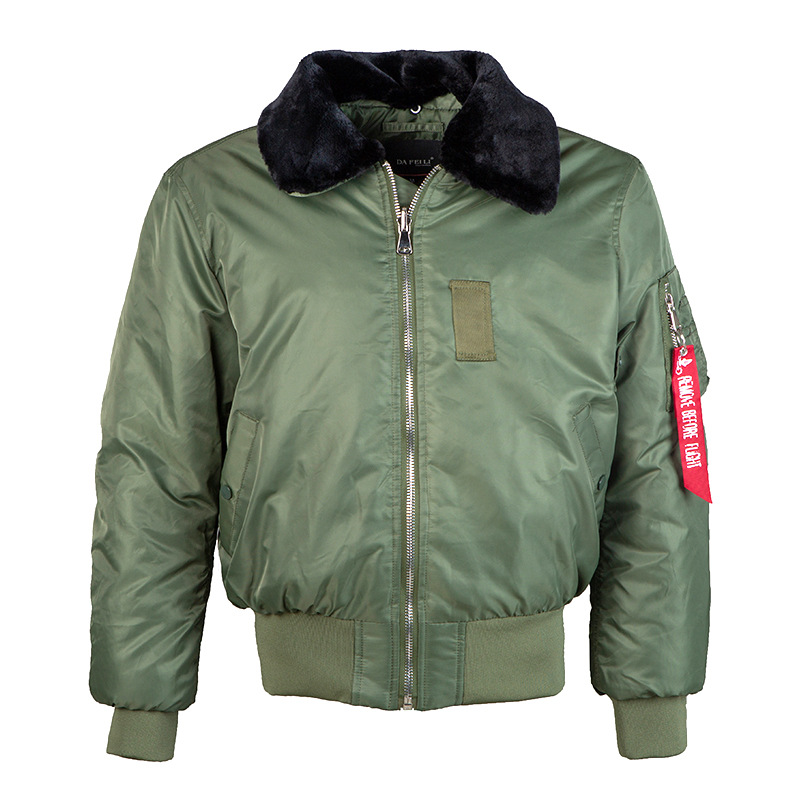 Мужская куртка бомбер с меховым воротником ABOORUN, теплая зимняя куртка пилот MA 1 с подкладкой, R3082|Куртки|   | АлиЭкспресс