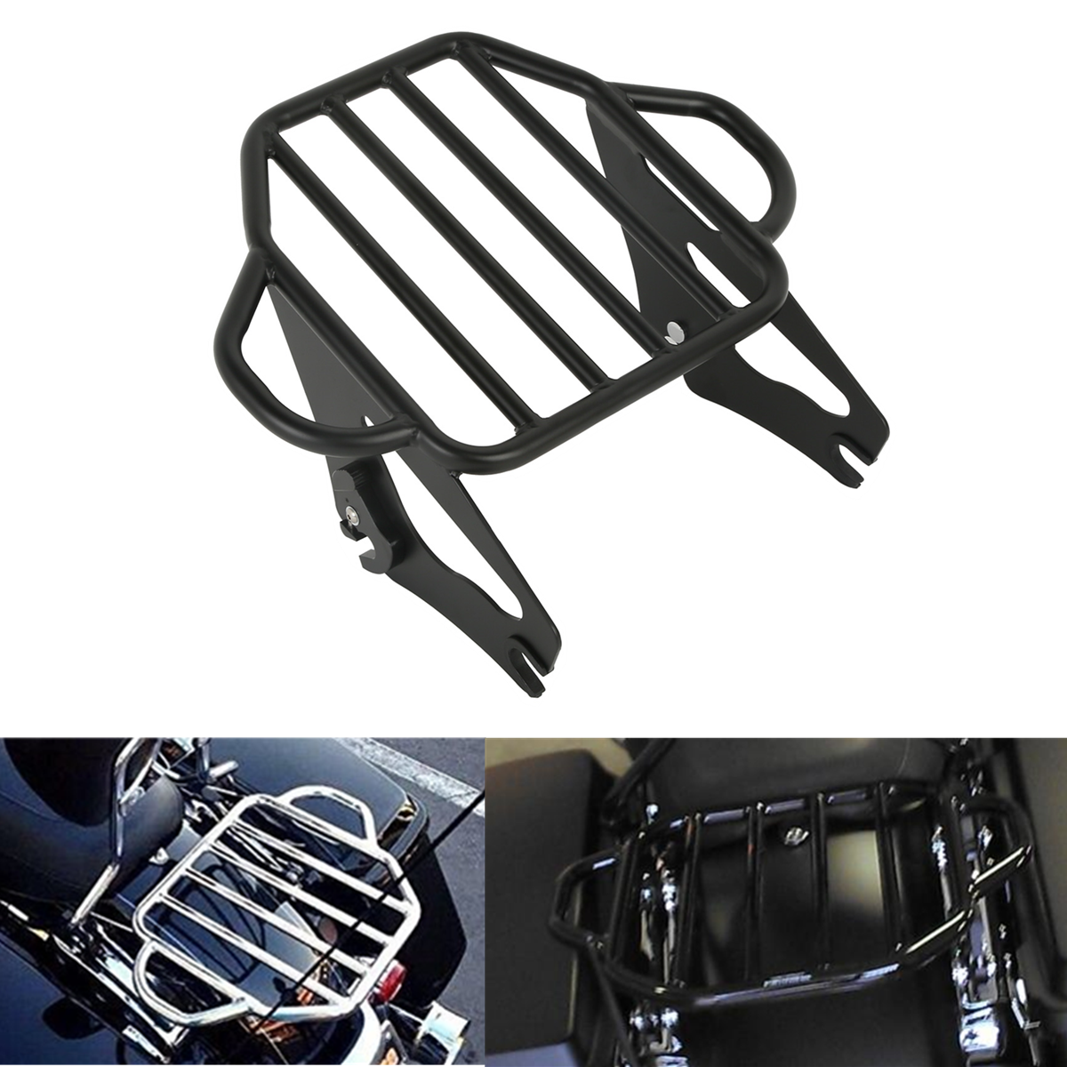Motorcycle Detachable Two Up Tour Mounting Luggage Rack For Harley Electra Glide Road King Road Glide 2009 2019-in Covers & Ornamental Mouldings from Automobiles & Motorcycles