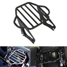 Portaequipajes desmontable de dos ruedas para motocicleta Harley Electra Glide Road King, portaequipajes de montaje para motocicleta, 2009 2019