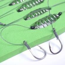 5 шт/компл рыболовная леска с двойным крючком стальные колючие