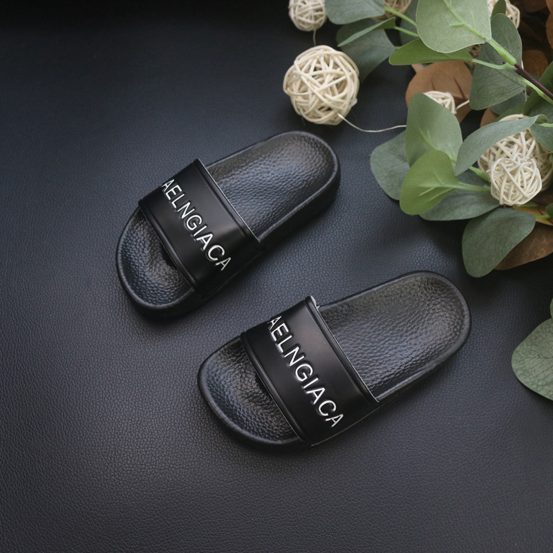 CHILDREN'S Slippers Soft-Sole Bath Slipper Indoor Outdoor BOY'S Girls Black/white Single-strap Slipper Slippers