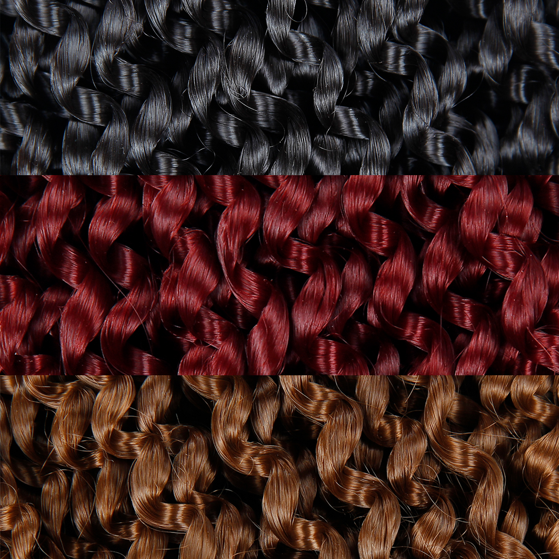 18'' Crochet Braid Hair For Braiding Synthetic Hair Extension Sensationnel Lulutress Long Bohemian Curly Crochet Hair Twist