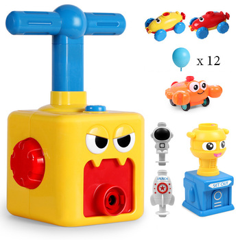 Hot Toy Educational Science Power Balloon Car Montessori Toys Experiment Toy Inertial Launch Tower Cars Toys for Children Gift