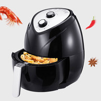 1400W 3.6L Oil free Air Fryer Multifunction Cooker Smart Airfryer Pizza Maker Temperature Control Timing Kitchen Cooking Tools