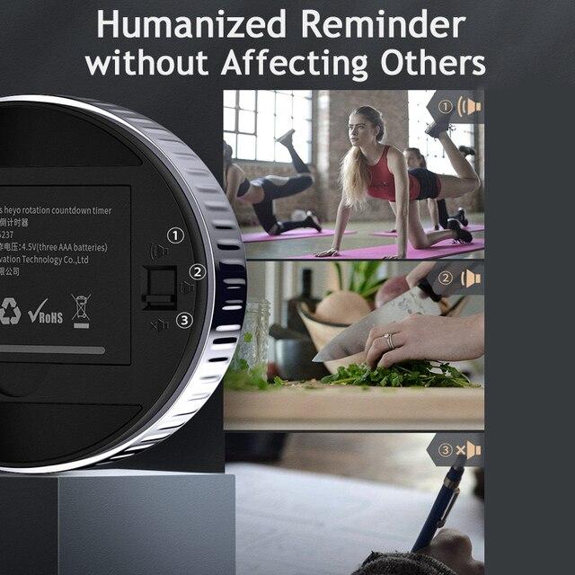 Цифровой магнитный светодиодный таймер-екундомер Baseus для кухни 3