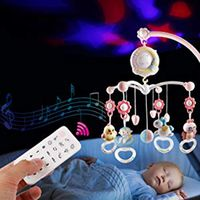 Baby Rattles Crib Mobiles Toy Holder Crib Mobile Bed Musical Box Projection 0 12Months Newborn Infant Baby Toys