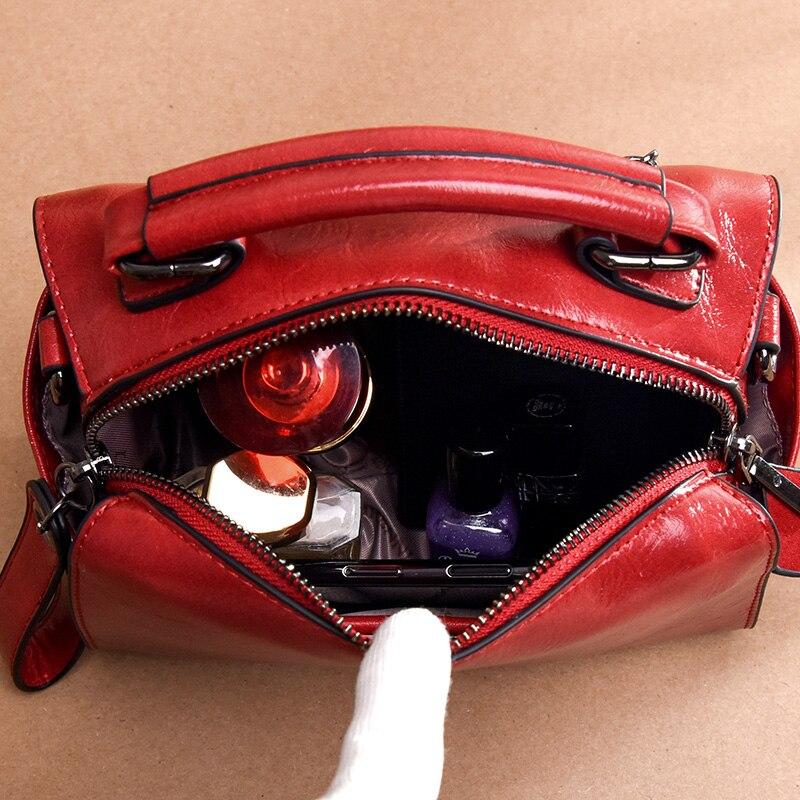 YILIAN fashion Ms handbag Europe America trend lady Imitation oil wax Multi function single shoulder diagonal bag ST3060 in Top Handle Bags from Luggage Bags