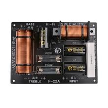 1 шт. 2 Way аудио Динамик делитель частоты 800 Вт регулируемые ВЧ кроссовер баса Динамик профессиональных фильтров