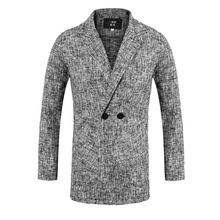 Spring Pliad Men Suits New Design Smart Casual Business Check Blazer Office Party Prom Club Jacket 1 Piece