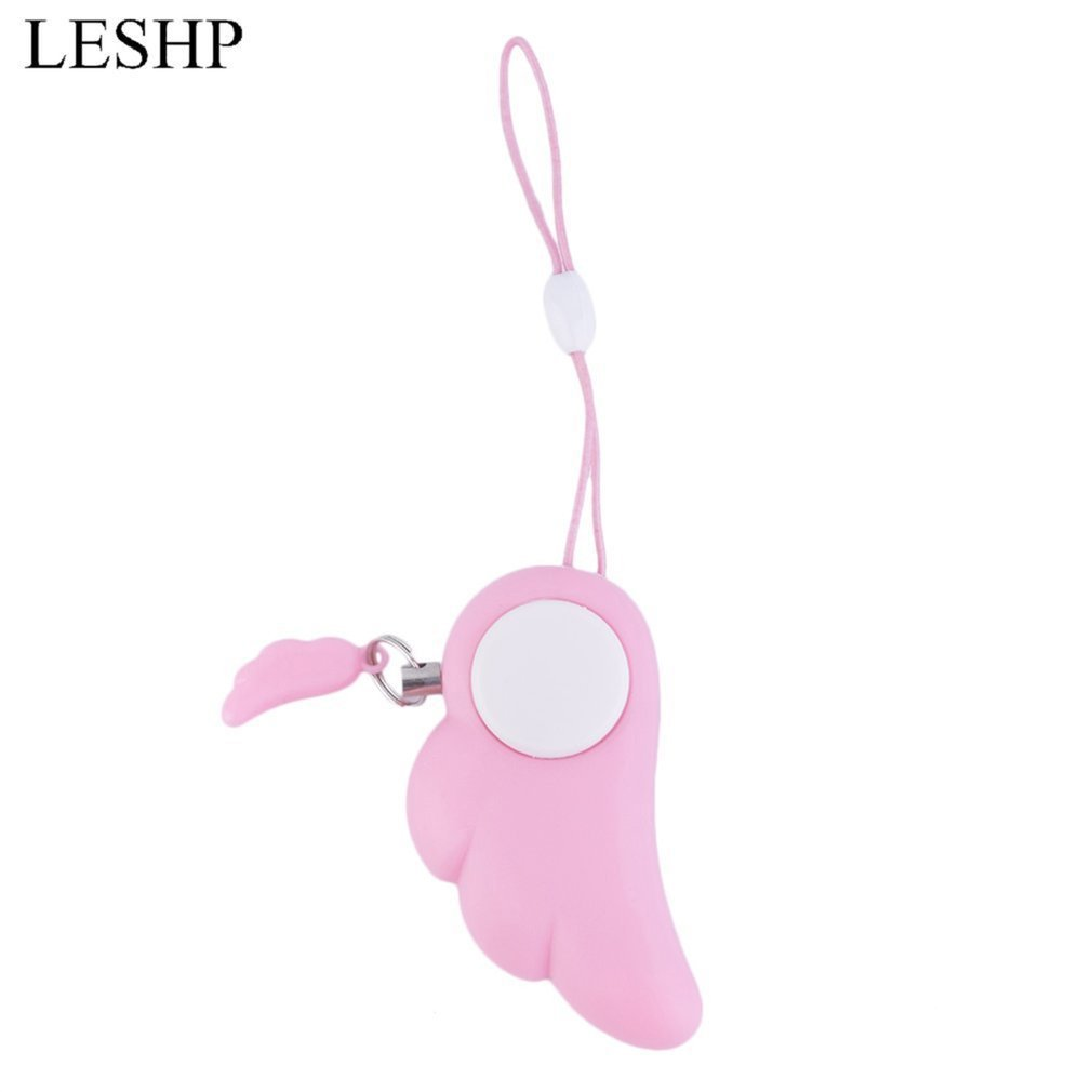 Angel Wings Protection Panic Safety Security Anti-Wolf Alarm Girls Personal Self Defense Supplies Alarm Key Ring 90dB