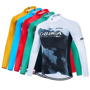 2021 nowy mistrz świata hiszpania zespół z długim rękawem Top jazda na rowerze Jersey MTB odzież rowerowa nosić jesienne ubrania do jazdy rowerem mężczyźni jazda na rowerze tanie i dobre opinie ORBEA FACTORY IT (pochodzenie) POLIESTER Stretch Spandex Pełne men cycling jersey Wiosna summer AUTUMN Winter Koszulki