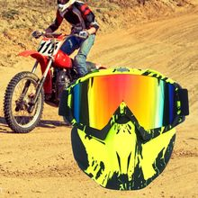 Motorcycle Goggles Skiing/snowmobil Detachable-Mask Off-Road with Suitable-For Cs/desert