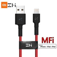 Cavo lightning usb certificato ZMI MFI originale per iPhone 12 11 xs xr 8 7 6 5 caricabatterie ipad dati di ricarica rapida 0.3m 1m 2m intrecciato