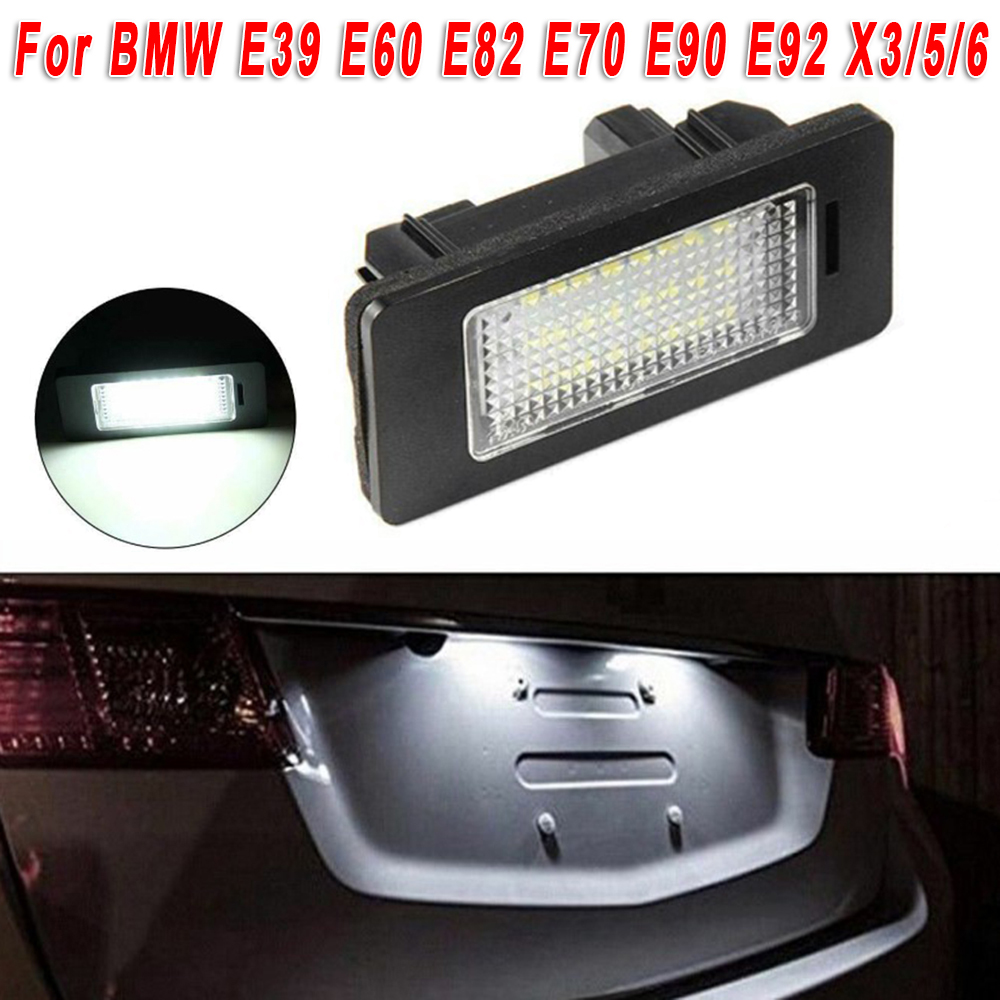 12V <font><b>LED</b></font> Light License Plate Light Lamp No Error For BMW E39 E60 E82 E70 E90 E92 E93 X1 X3 X5 X6 F10 <font><b>F31</b></font> F32 F33 F36 F83 image