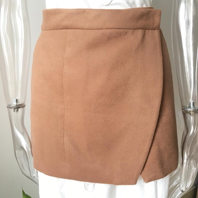 High Quality Elegant Women All-match Style Solid Color Khaki Corset Winter Woolen Cummerbund