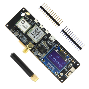 Image 1 - LILYGO®TTGO T קרן V1.1 ESP32 433/868/915/923Mhz WiFi Bluetooth מודול ESP32 GPS NEO 6M SMA 18650 סוללה מחזיק עם OLED