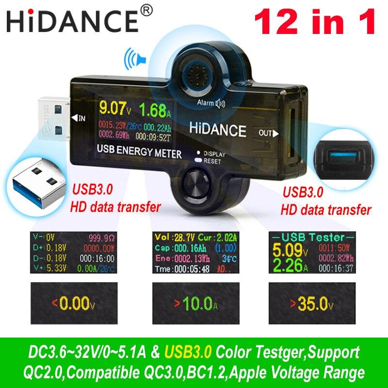 H75c3ab8b47da416fa8406ec13327f3ca6 USB 3.0 TFT 13in1 USB tester APP dc digital voltmeter ammeter voltimetro power bank voltage detector volt meter electric doctor