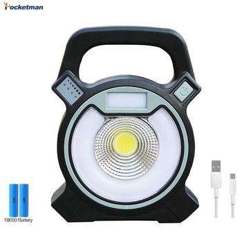 цена на Rechargeable Portable 15W Outdoor Camping Flood Light USB Work Lamp Emergency Torch Flash lamp