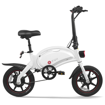 DYU 14 pulgadas plegable asistencia de potencia Bicicleta eléctrica, ciclomotor E-bike 65-70km rango máx E motocicleta Bicicleta Electrica