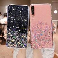 Custodia morbida con Glitter bling Redmi 9A 8A 9C NFC 9AT 8 7A 6A Note 10 9S 8T 8 7 6 9 Pro Max Cover per Xiaomi Mi A3 9 A2 Lite 10 9SE M3