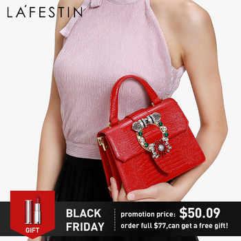 LAFESTIN Luxury Handbag Women bags 2019 New Diamond Handbag Fashion Shoulder Bag Messenger Bag Bolsa Feminina Lizard Texture - Category 🛒 Luggage & Bags