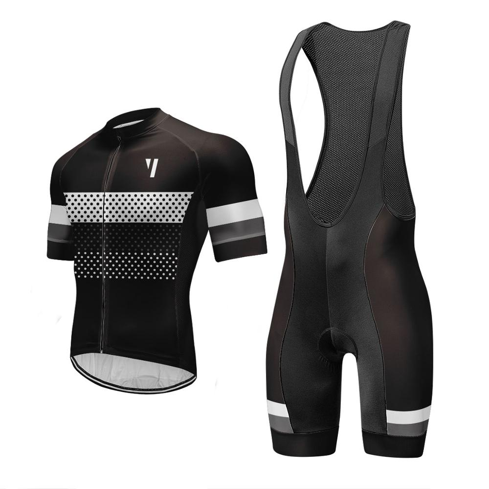 Men Cycling Jersey Set 2020 Pro Team Breathable Bicycle Cycling Clothing Mountain Bike Maillot Ropa Ciclismo Bib Shorts Set