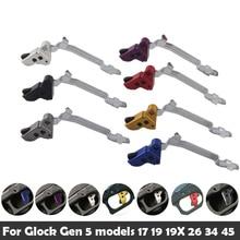 Tri ger potenziato in alluminio ad alte prestazioni adatto per modelli Glock Gen 5 17 19 19X 26 34 45