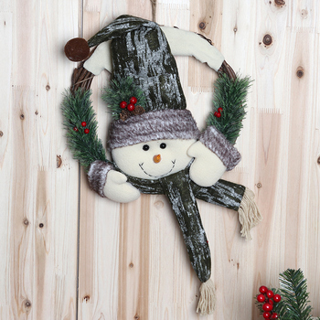 Kids Toys Boys Christmas Decorations Old Man Head Snowman Rattan Ring Door Decoration Tree Ornaments