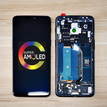 "Original 100% AMOLED 6.28"" LCD For Oneplus 6 LCD Display Touch Screen Digitizer Assemble For One Plus 6 1+6 LCD Replacement"