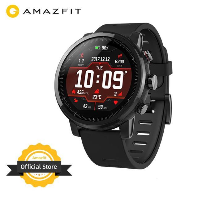 Оригинальный Amazfit Stratos Смарт часы Bluetooth GPS подсчет калорий монитор сердца 50 м Водонепроницаемый для iOS и Android телефон