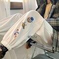 Шаровары женские повседневные свободные плотные спортивные брюки в Корейском стиле Осень-зима модные новые брюки женские брюки-карго для ж...