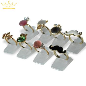 Wholesale Ring Show Plastic Frosted Jewelry Displays Holder for Ring, Decoration Stand 20pcs/Lot Free shipping цена 2017