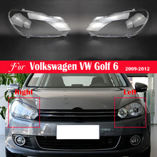 รถด้านหน้าไฟหน้าเปลี่ยนเลนส์อัตโนมัติสำหรับโฟล์คสวาเก้น VW Golf 6 2009 2010 2011 2012ไฟหน้าโคมไฟ Lampcover